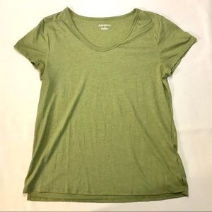 Merona | Green Scoop Neck Tee